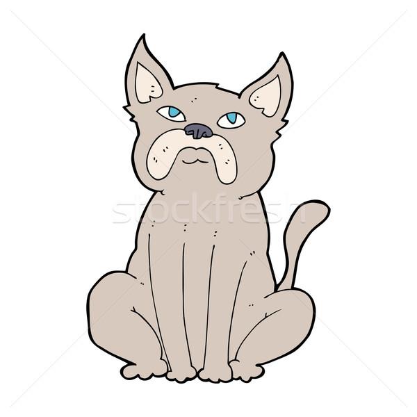 cartoon grumpy little dog Stock photo © lineartestpilot