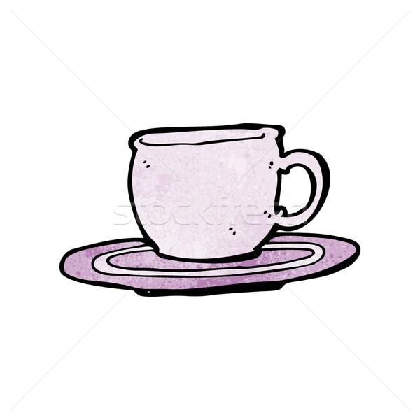 漫画 茶碗 デザイン 芸術 茶 レトロな ストックフォト © lineartestpilot