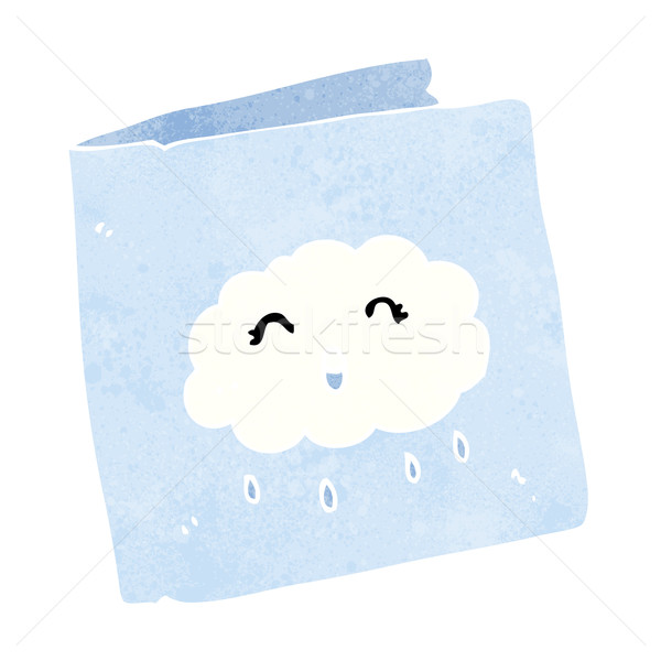 cartoon card with cloud pattern vector illustration