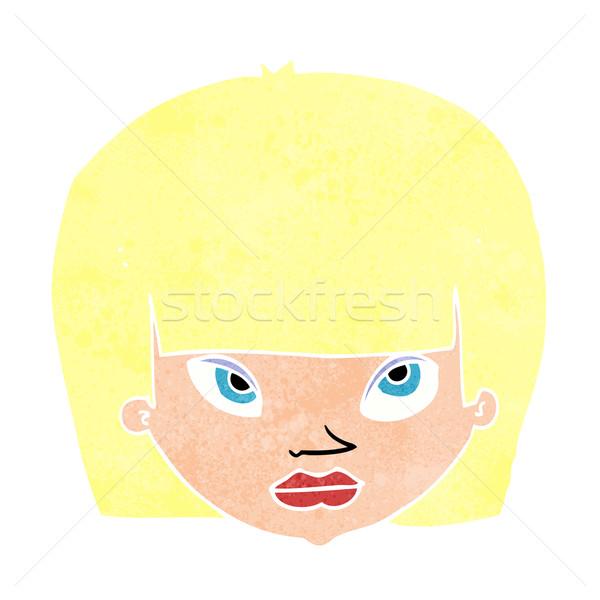 Cartoon infastidito donna mano design testa Foto d'archivio © lineartestpilot