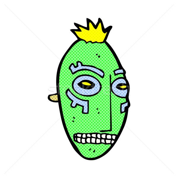 комического Cartoon племенных маске ретро Сток-фото © lineartestpilot