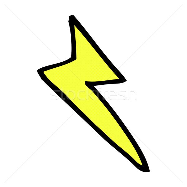 Comic Karikatur Blitz Symbol Retro Comic Stock foto © lineartestpilot