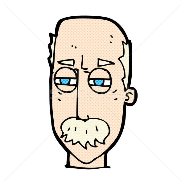 Dessinées cartoon agacé vieillard rétro Photo stock © lineartestpilot