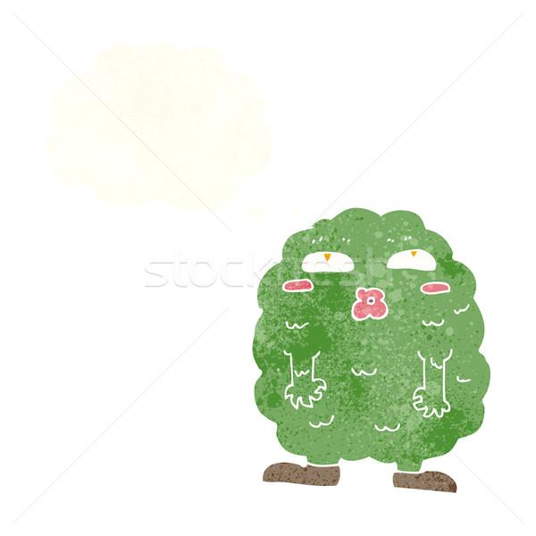 смешные Cartoon монстр мысли пузырь стороны дизайна Сток-фото © lineartestpilot