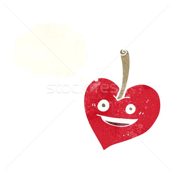 Cartoon amore cuore mela bolla di pensiero mano Foto d'archivio © lineartestpilot