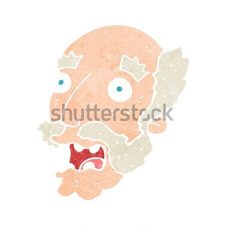 Cartoon счастливым женщины лице мысли пузырь девушки Сток-фото © lineartestpilot