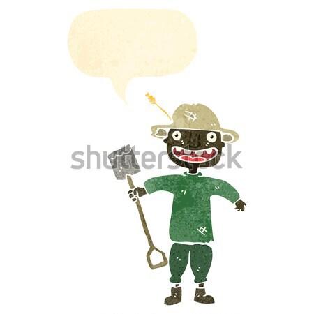 Cartoon viejo bocadillo mano hombre Foto stock © lineartestpilot