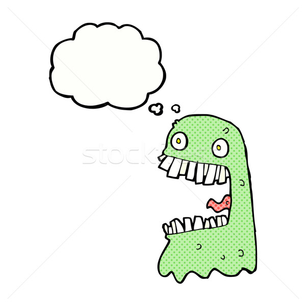 Cartoon fantasma burbuja de pensamiento mano diseno loco Foto stock © lineartestpilot