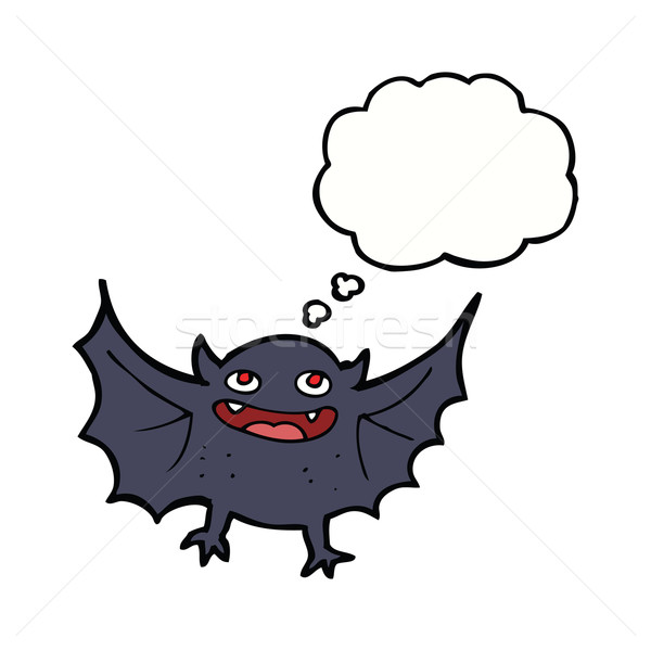 Karikatür vampir bat düşünce balonu el dizayn Stok fotoğraf © lineartestpilot