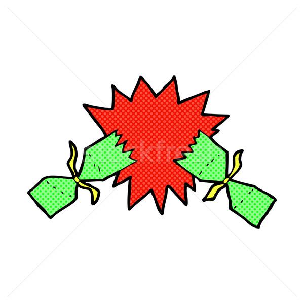 comic cartoon christmas cracker Stock photo © lineartestpilot