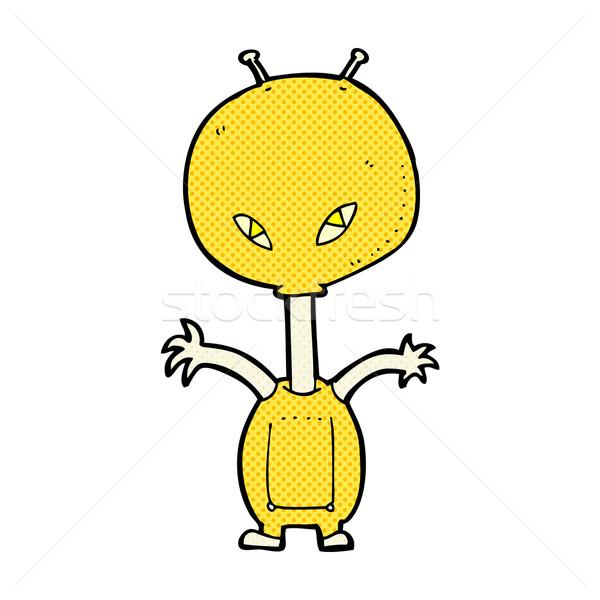 Cômico desenho animado espaço alienígena retro Foto stock © lineartestpilot