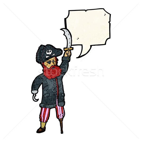 pirate captain cartoon Stock photo © lineartestpilot