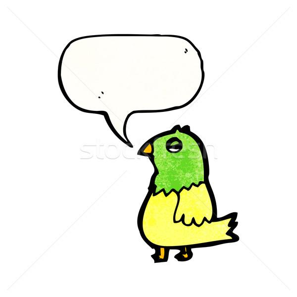 Cartoon Parrot стороны счастливым рисунок пения Сток-фото © lineartestpilot