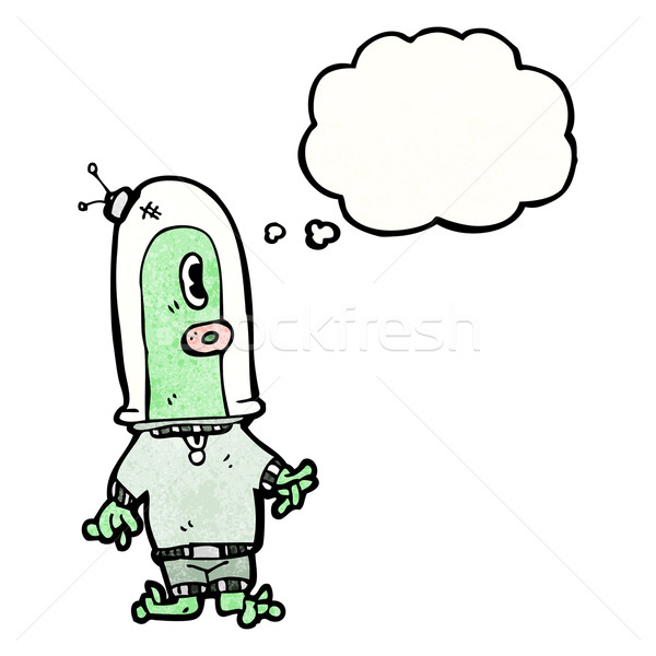 cartoon alien spaceman Stock photo © lineartestpilot