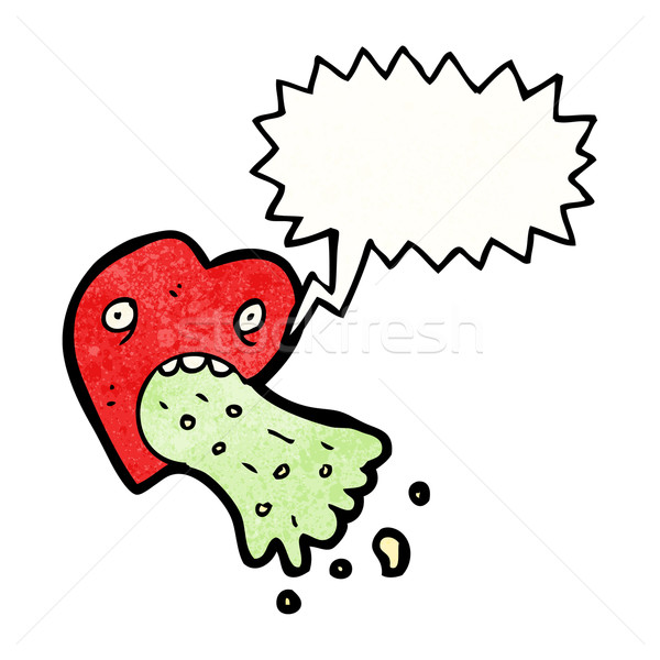 Amor enfermos corazón Cartoon retro dibujo Foto stock © lineartestpilot