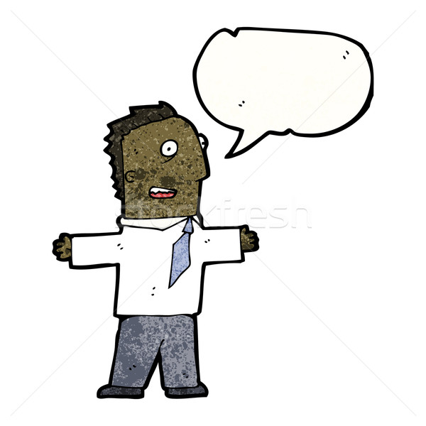 cartoon enthusiastic man Stock photo © lineartestpilot
