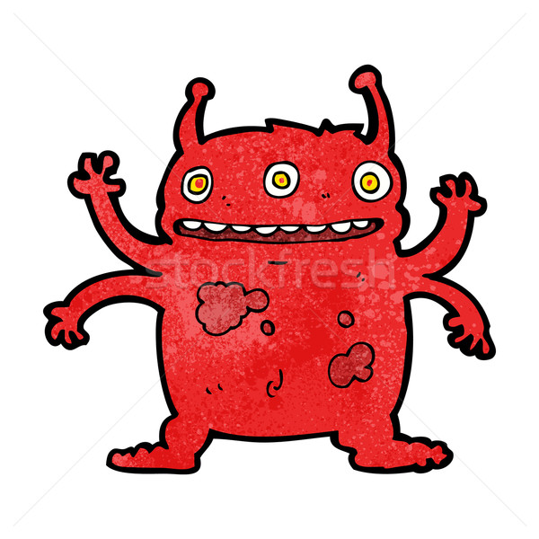 Cartoon vreemdeling monster ontwerp kunst retro Stockfoto © lineartestpilot