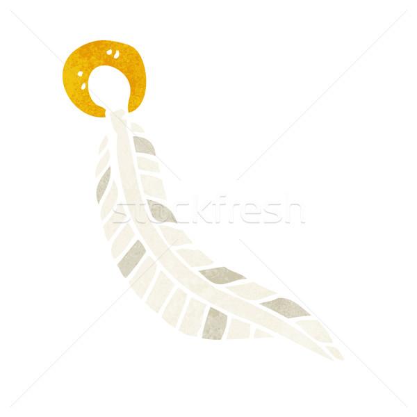 Desenho animado pena mão projeto louco clipe Foto stock © lineartestpilot