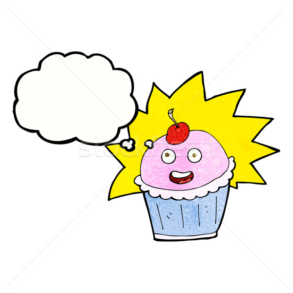 cartoon cupcake with thought bubble Stock photo © lineartestpilot