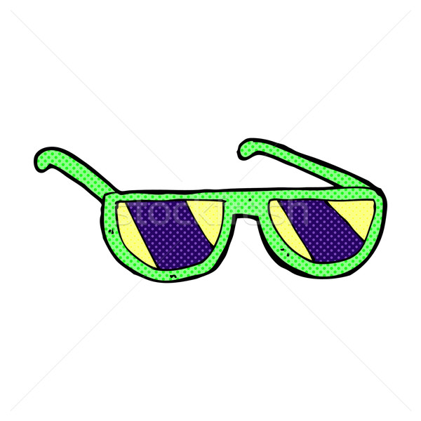 Cómico Cartoon radiografía gafas retro Foto stock © lineartestpilot