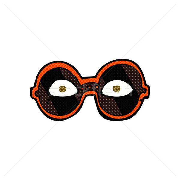 comic cartoon eyes in dark glasses Stock photo © lineartestpilot