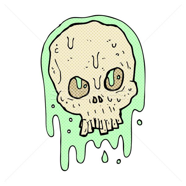 комического Cartoon слизистый череп ретро Сток-фото © lineartestpilot