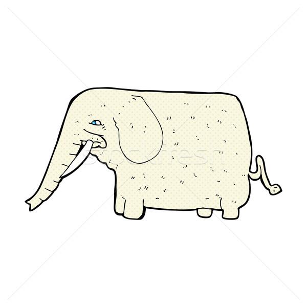 Komiks cartoon duży słoń retro komiks Zdjęcia stock © lineartestpilot