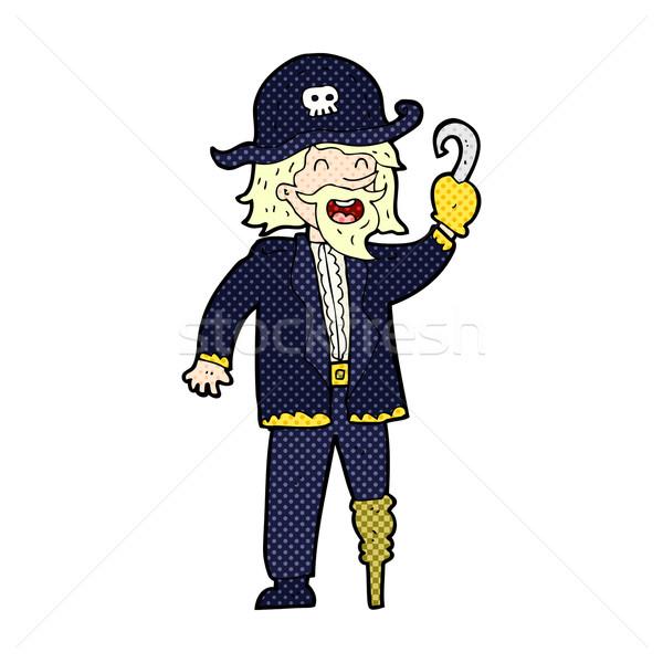 comic cartoon pirate captain Stock photo © lineartestpilot