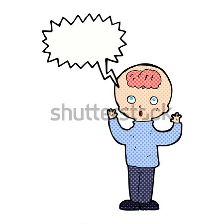 cartoon gasping man with thought bubble Stock photo © lineartestpilot