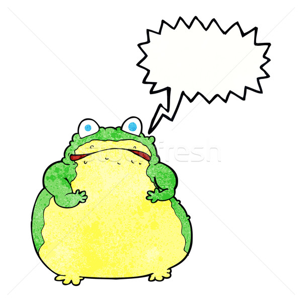 cartoon fat toad with speech bubble Stock photo © lineartestpilot