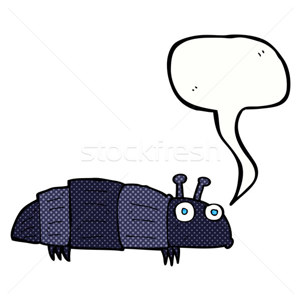 Cartoon bug bulle main design art Photo stock © lineartestpilot