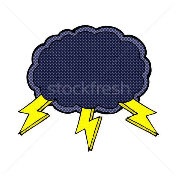 Cómico Cartoon nube símbolo retro Foto stock © lineartestpilot