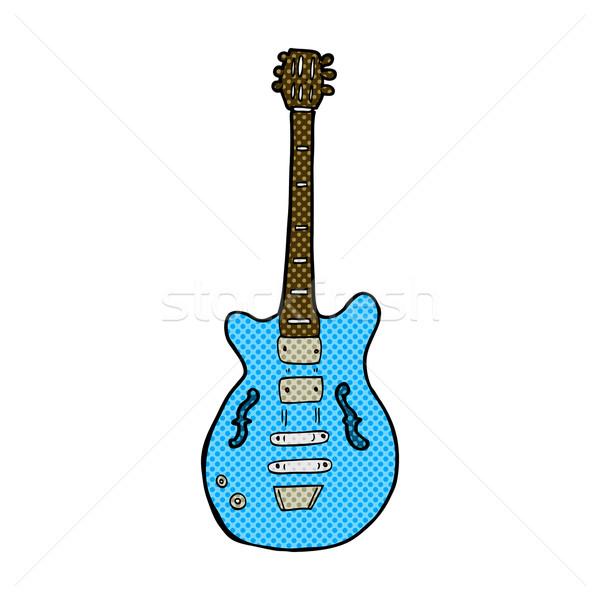 comic cartoon electric guitar Stock photo © lineartestpilot