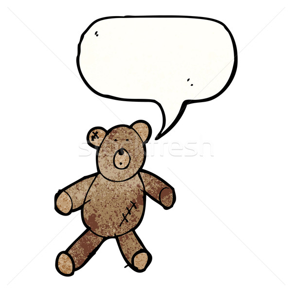 child's drawing of a teddy bear Stock photo © lineartestpilot