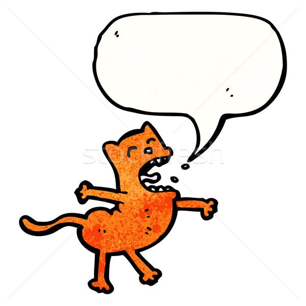 漫画 歌 猫 話し レトロな 図面 ストックフォト © lineartestpilot