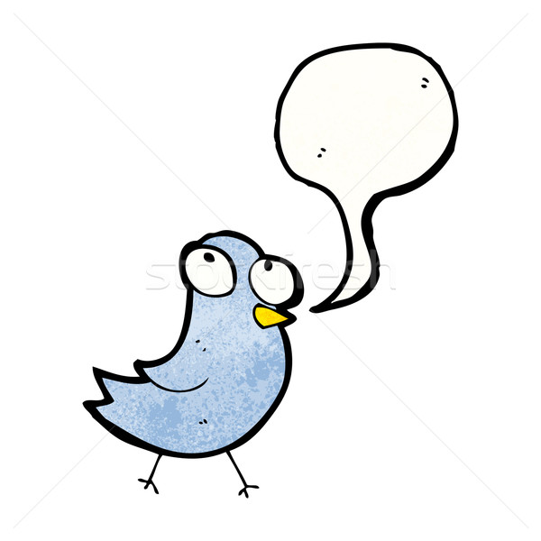 cartoon bird with speech bubble Stock photo © lineartestpilot
