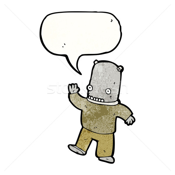 Cartoon weird vreemdeling man retro Stockfoto © lineartestpilot