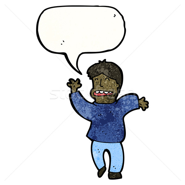 cartoon stressed out man gesturing wildly Stock photo © lineartestpilot