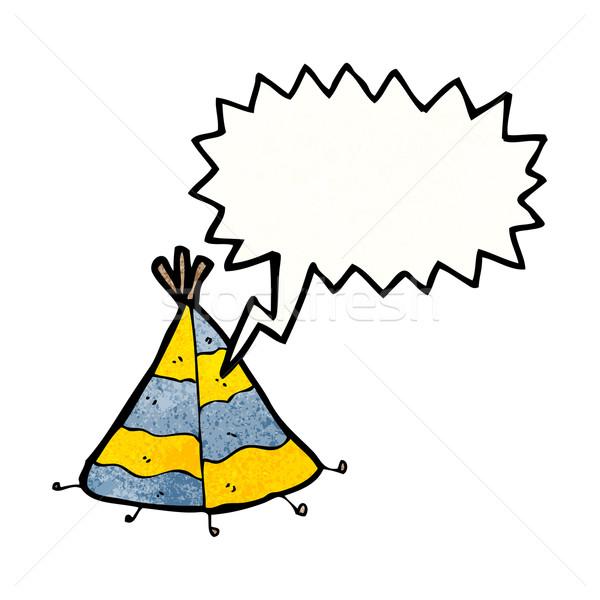 cartoon tent Stock photo © lineartestpilot