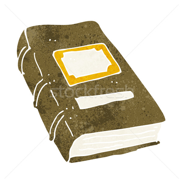 Desenho animado velho livro mão livro projeto arte Foto stock © lineartestpilot