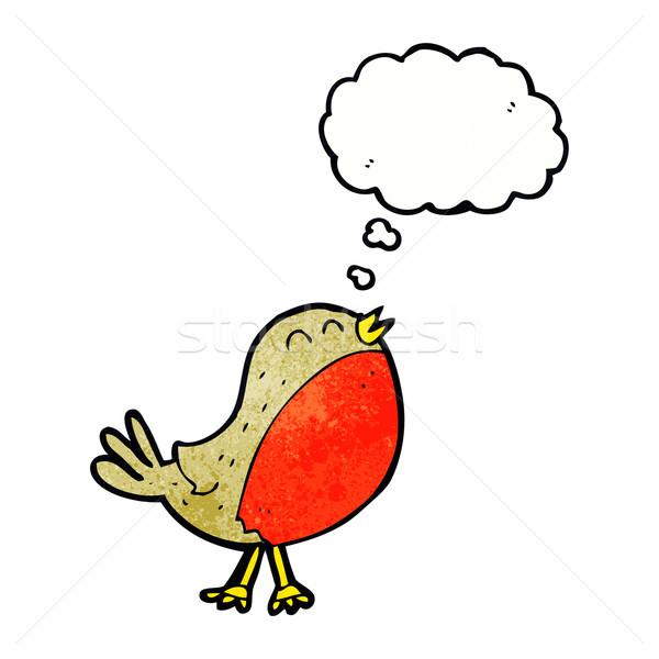 Stok fotoğraf: Karikatür · Noel · düşünce · balonu · el · dizayn · çılgın