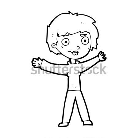 comic cartoon old man gesturing Get Out! Stock photo © lineartestpilot