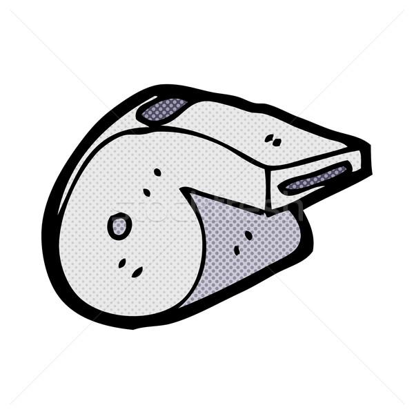 Képregény rajz síp retro képregény stílus Stock fotó © lineartestpilot