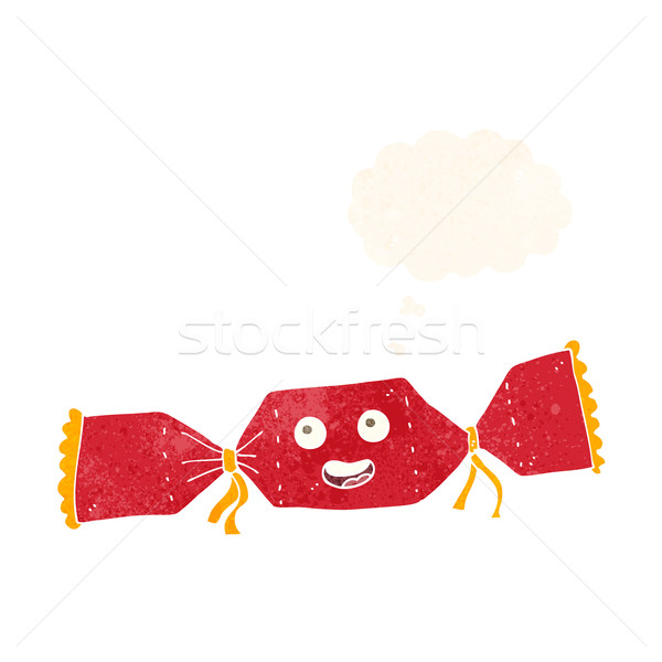 cartoon christmas cracker with thought bubble Stock photo © lineartestpilot