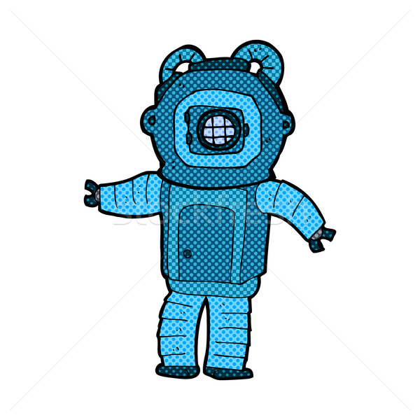 комического Cartoon глубокий морем Diver ретро Сток-фото © lineartestpilot