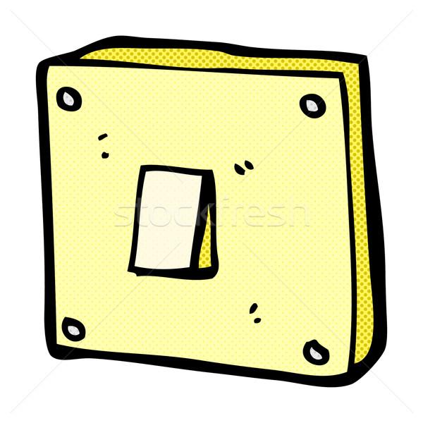 Dessinées cartoon interrupteur de lumière rétro style Photo stock © lineartestpilot
