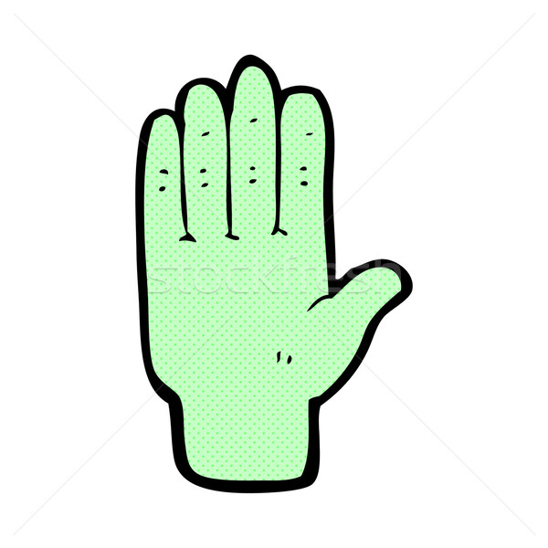 comic cartoon zombie hand Stock photo © lineartestpilot