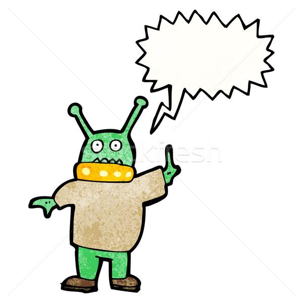 cartoon alien spaceman Stock photo © lineartestpilot