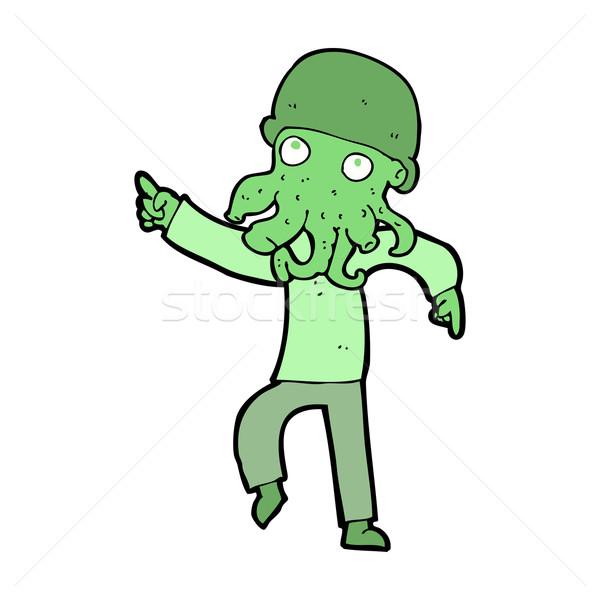 Desenho animado alienígena homem dança projeto arte Foto stock © lineartestpilot