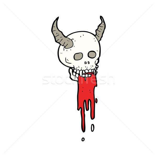 cartoon spooky halloween skull Stock photo © lineartestpilot